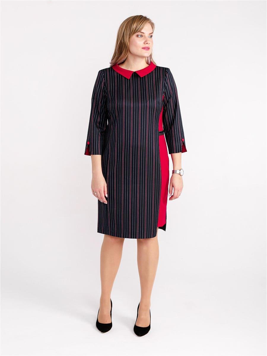 Женское платье LISA HR-1/333 синий-красный фото-2