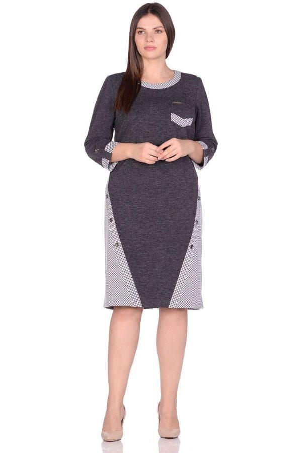 Женское платье LISA HR-1/336 серый фото-1