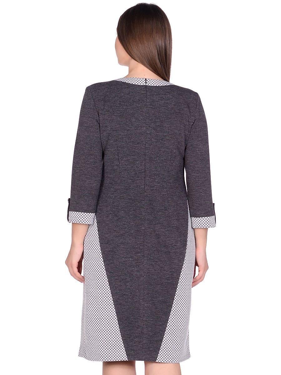 Женское платье LISA HR-1/336 серый фото-3