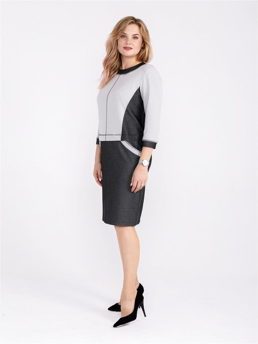 Женское платье LISA HR-5/418 серый фото-1