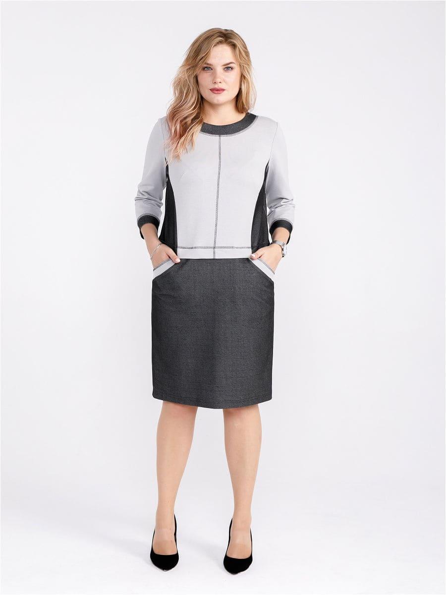 Женское платье LISA HR-5/418 серый фото-2