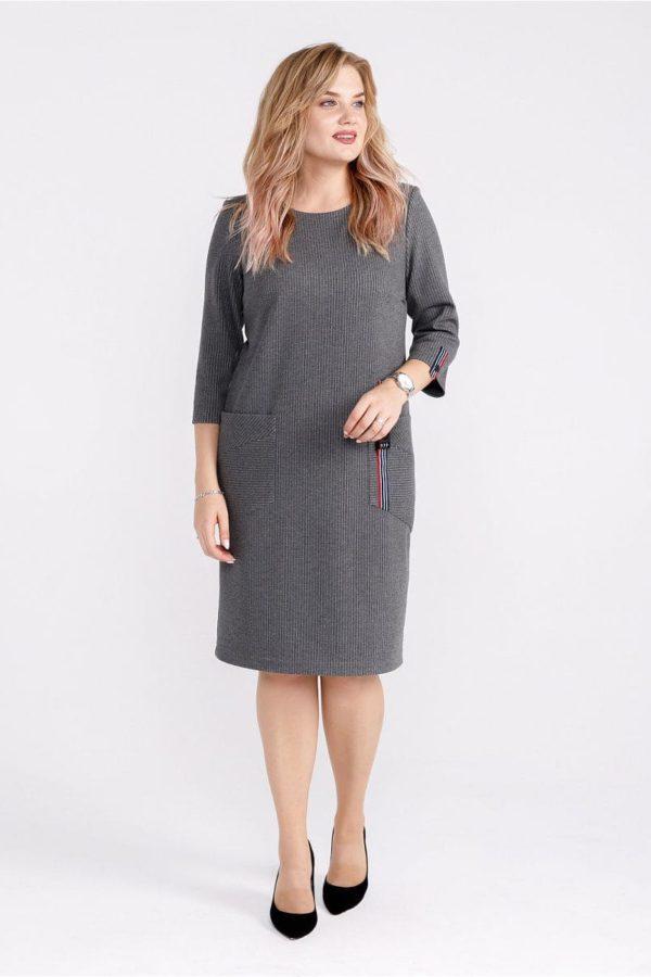 Женское платье LISA HR-5/458 серый фото-1