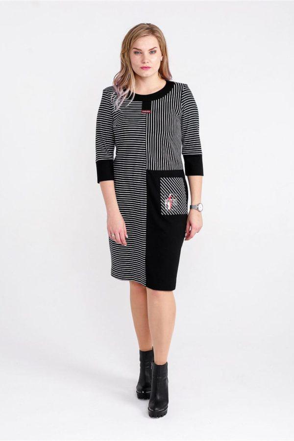 Женское платье LISA HR-5/459 черный фото-1