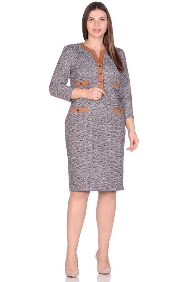 Женское платье LISA HR-5/508 белый-серый фото-1