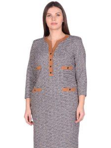 Женское платье LISA HR-5/508 белый-серый фото-2