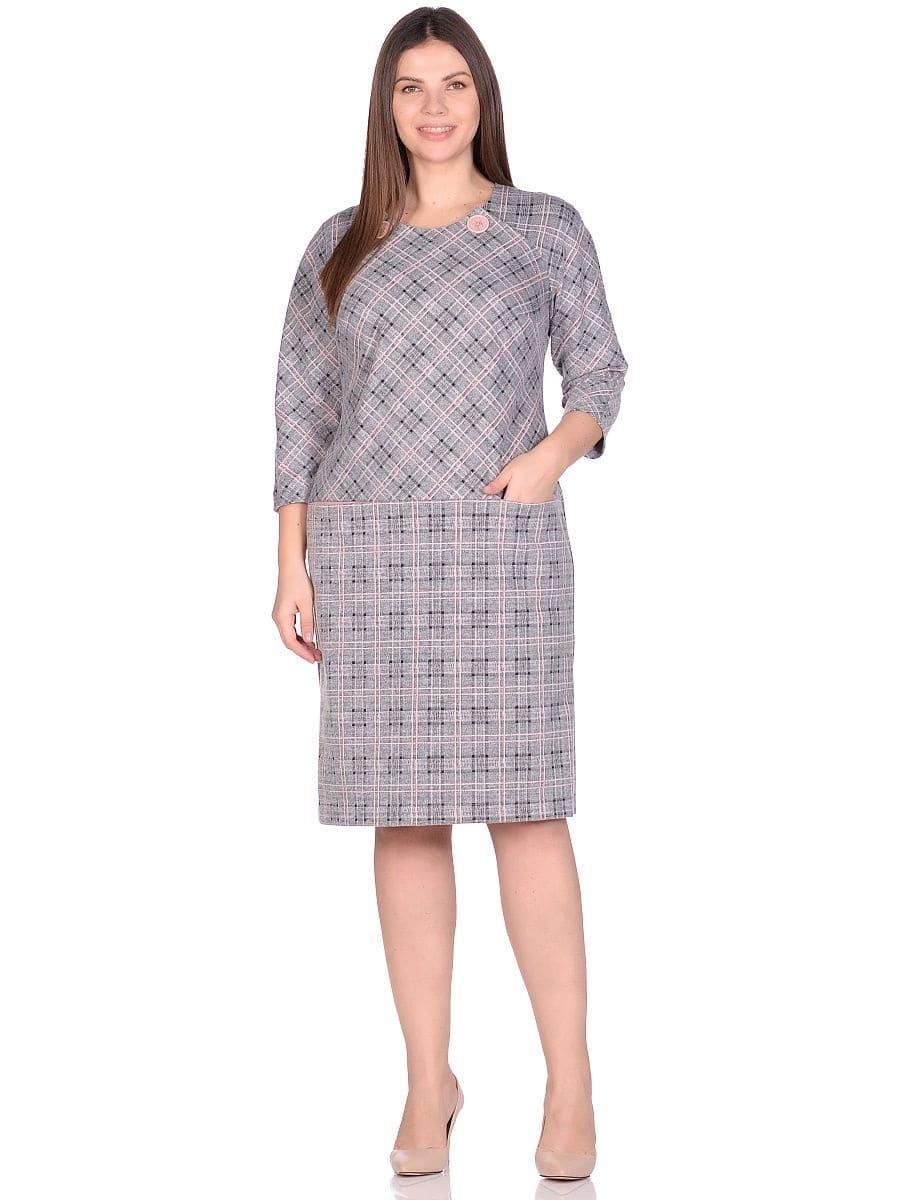 Женское платье LISA HR-0283 цвет серый розовый фото-1