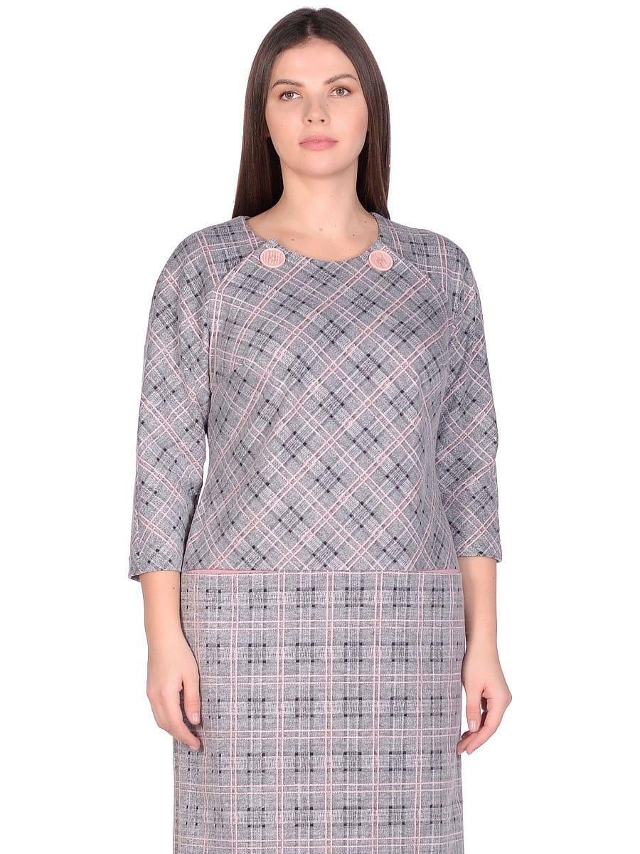 Женское платье LISA HR-0283 цвет серый розовый фото-2