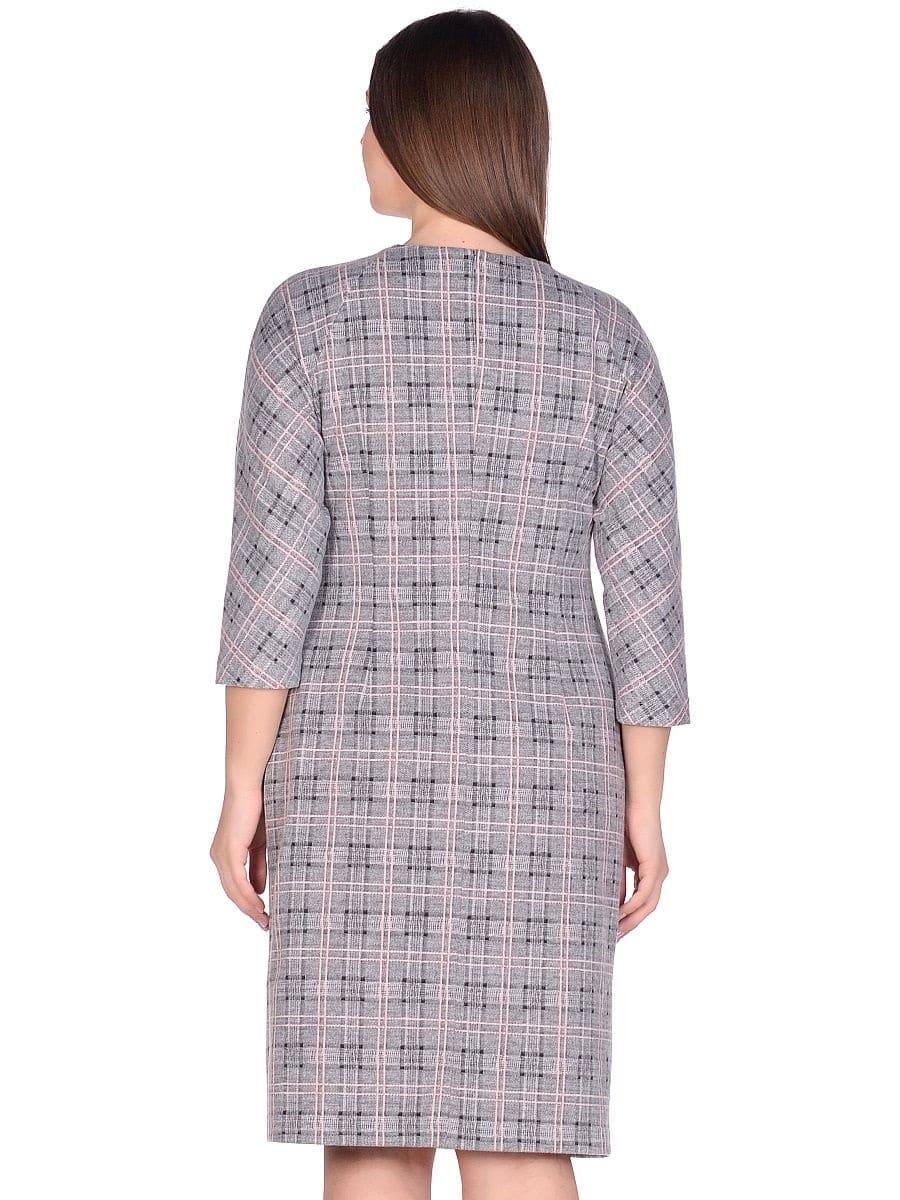Женское платье LISA HR-0283 цвет серый розовый фото-3