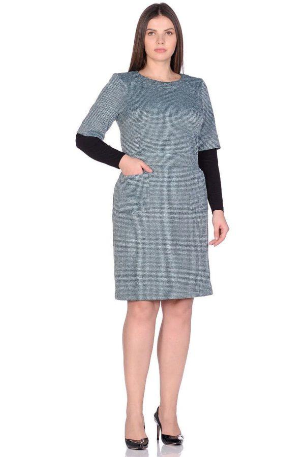 Женское платье LISA HR-1/319 зеленый фото-1