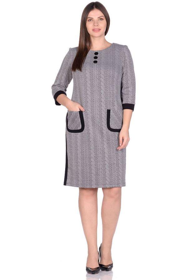 Женское платье LISA HR-5/223 серый фото-1