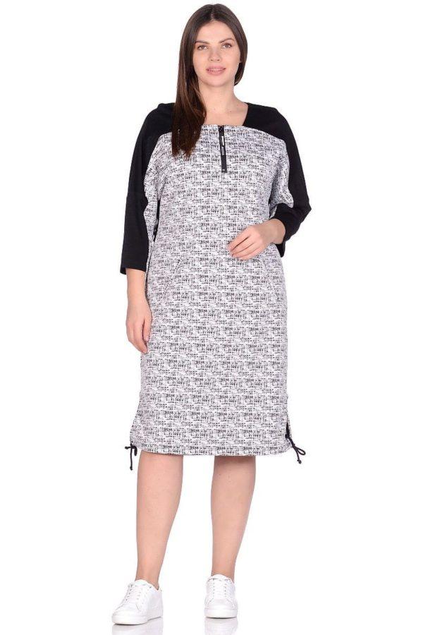 Женское платье LISA HR-5/445 белый-черный фото-1