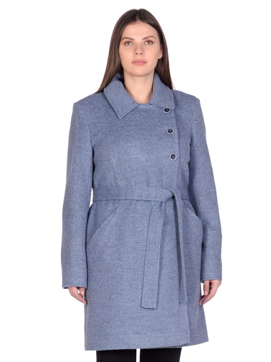 Женское демисезонное голубое пальто hr-058 фото-2