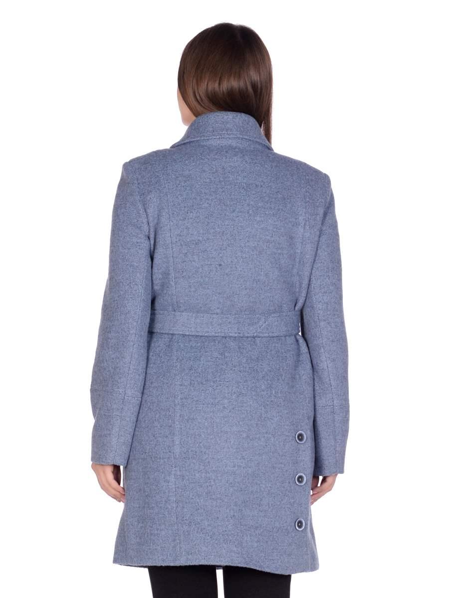 Женское демисезонное голубое пальто hr-058 фото-3