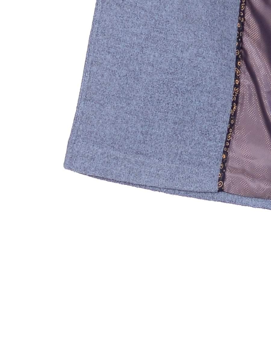 Женское демисезонное голубое пальто hr-058 фото-4