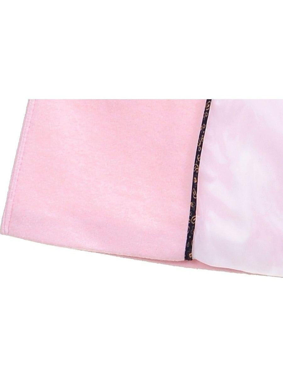 Женское демисезонное розовое пальто hr-059 фото-4