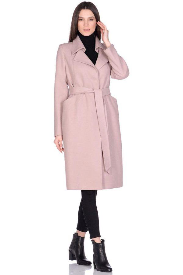 Женское демисезонное бежевое пальто hr-060 фото-1
