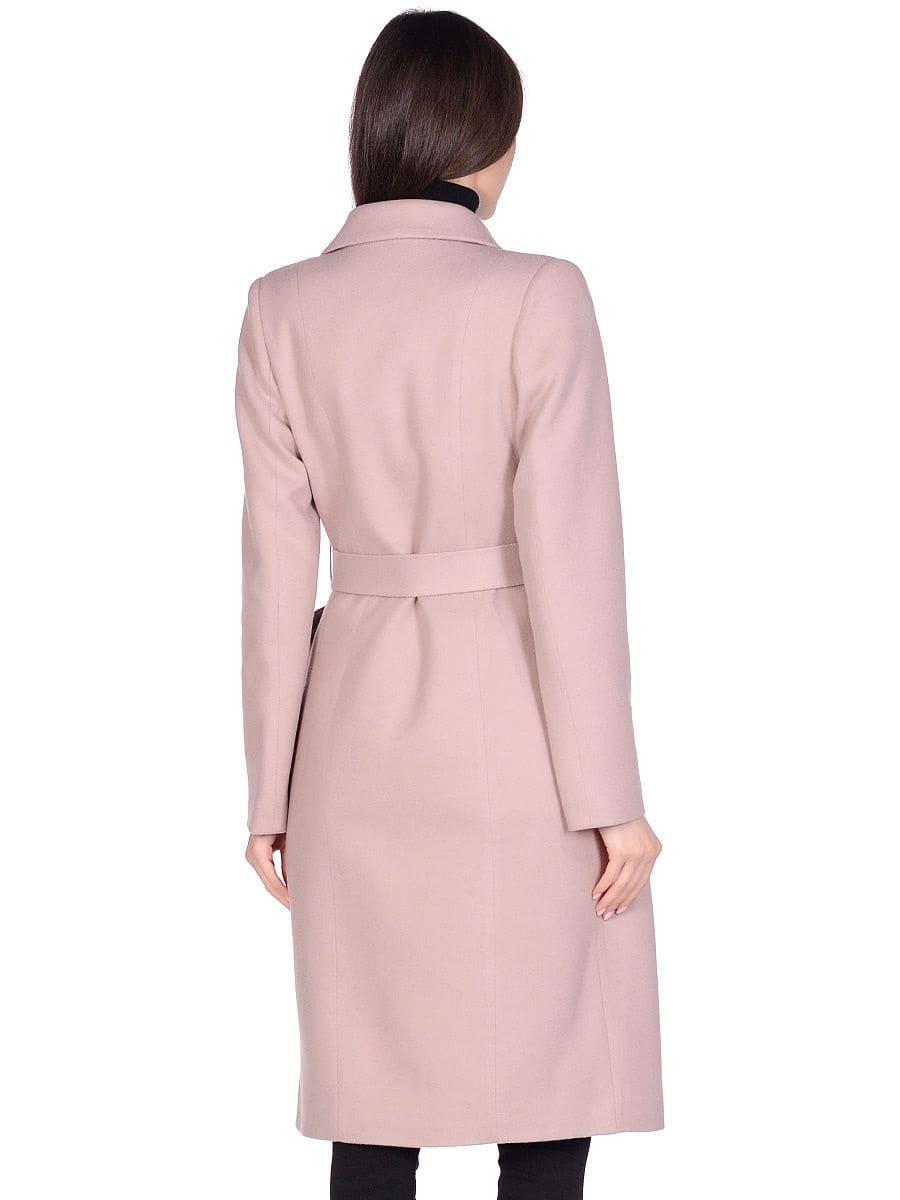 Женское демисезонное бежевое пальто hr-060 фото-3