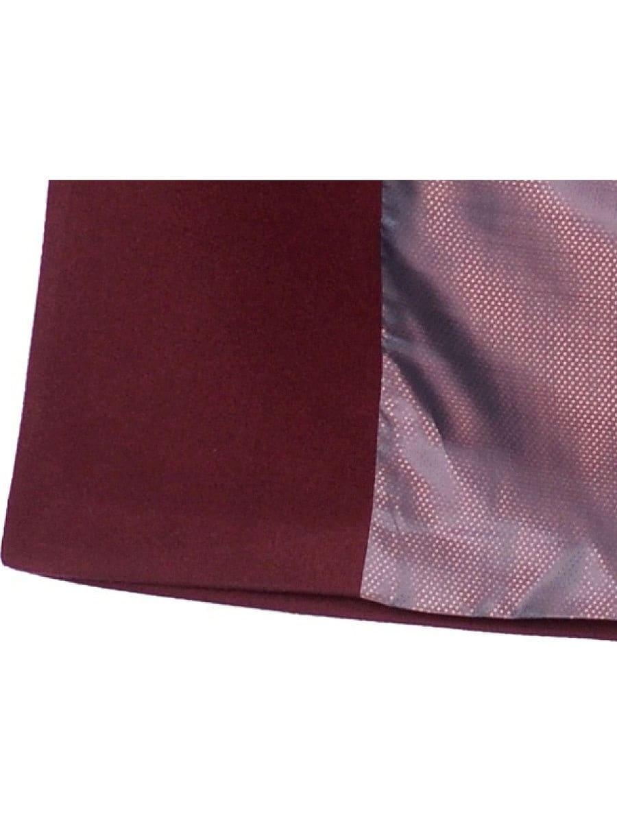 Женское демисезонное вишневое пальто hr-060 фото-4