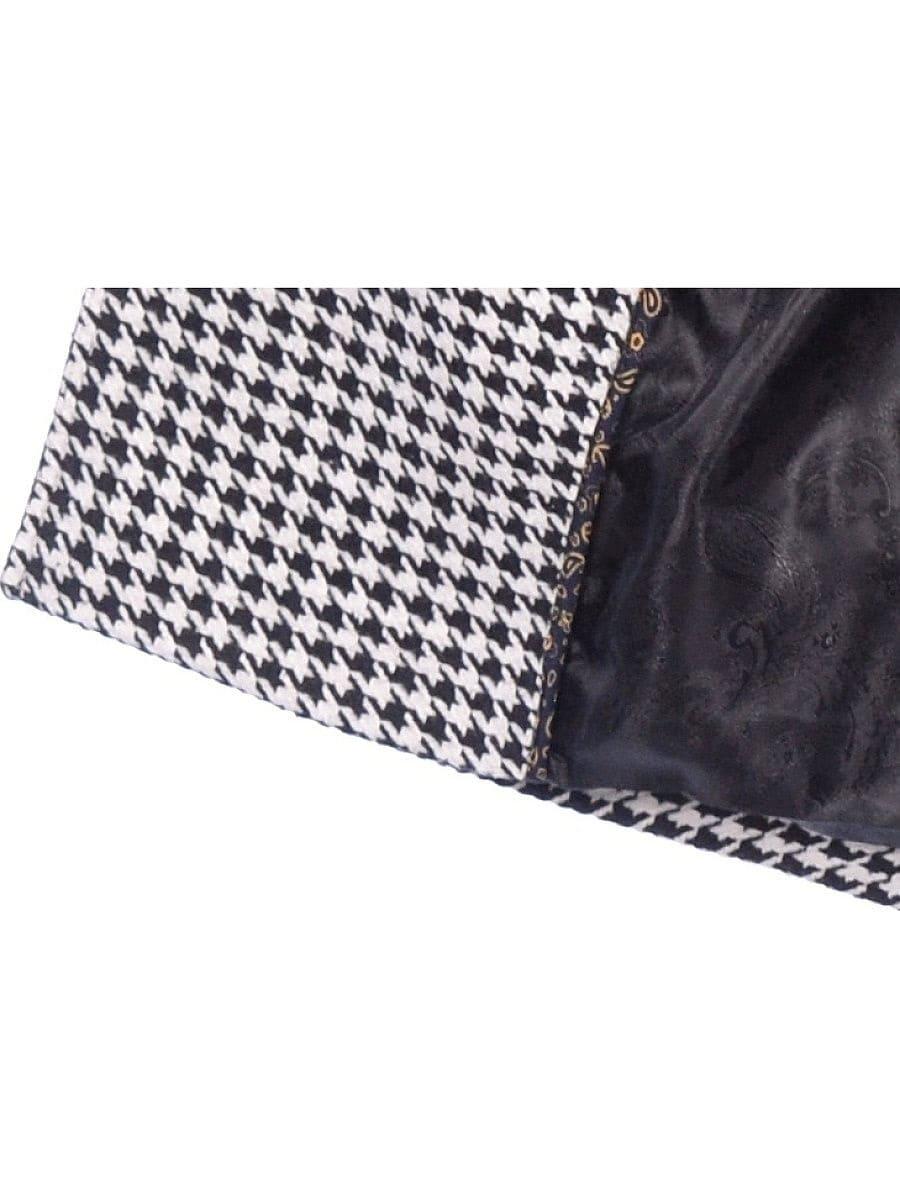 Женское демисезонное пальто hr-064 черно-белого цвета