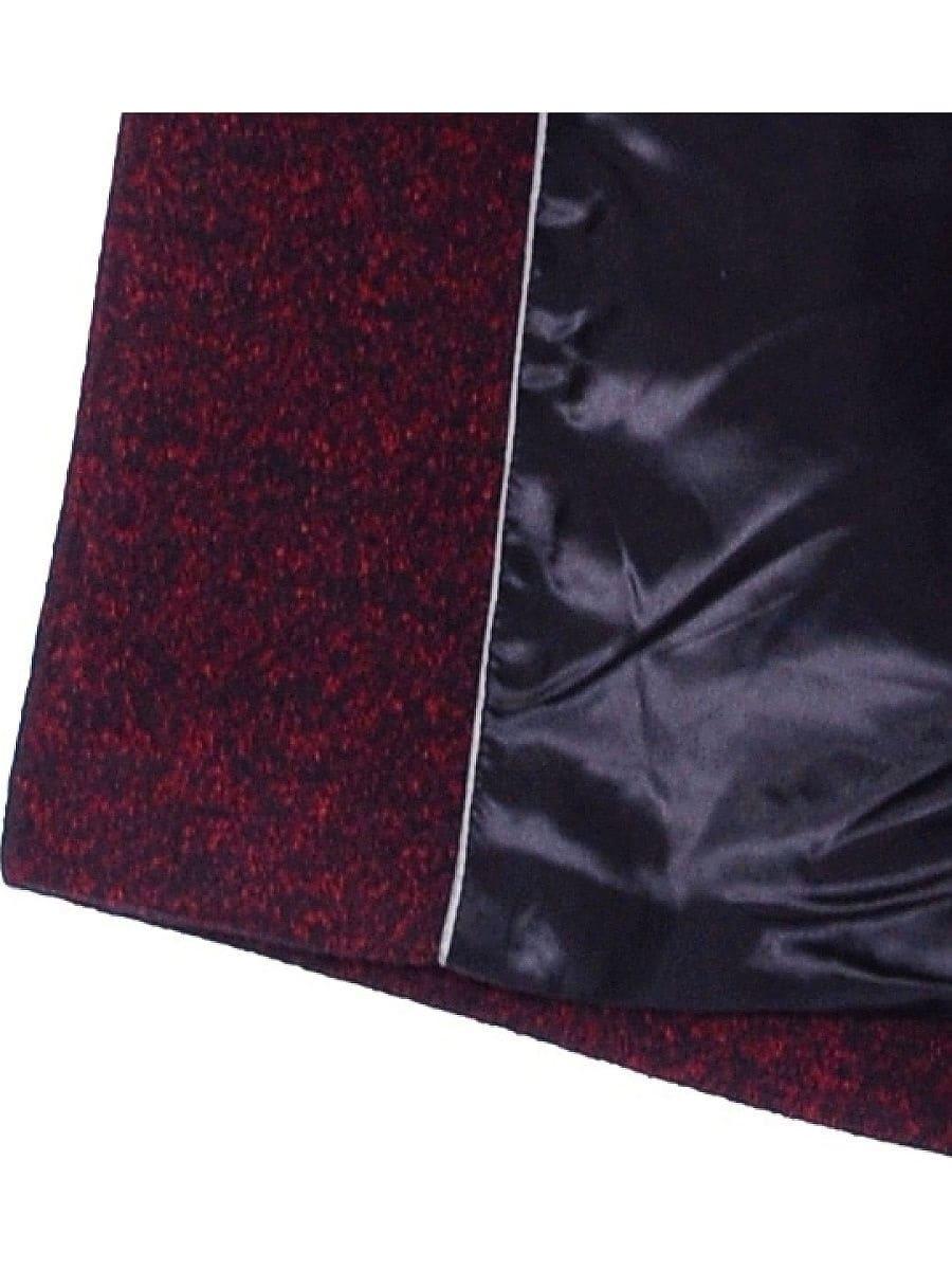 Женское демисезонное пальто hr-065 бордового цвета