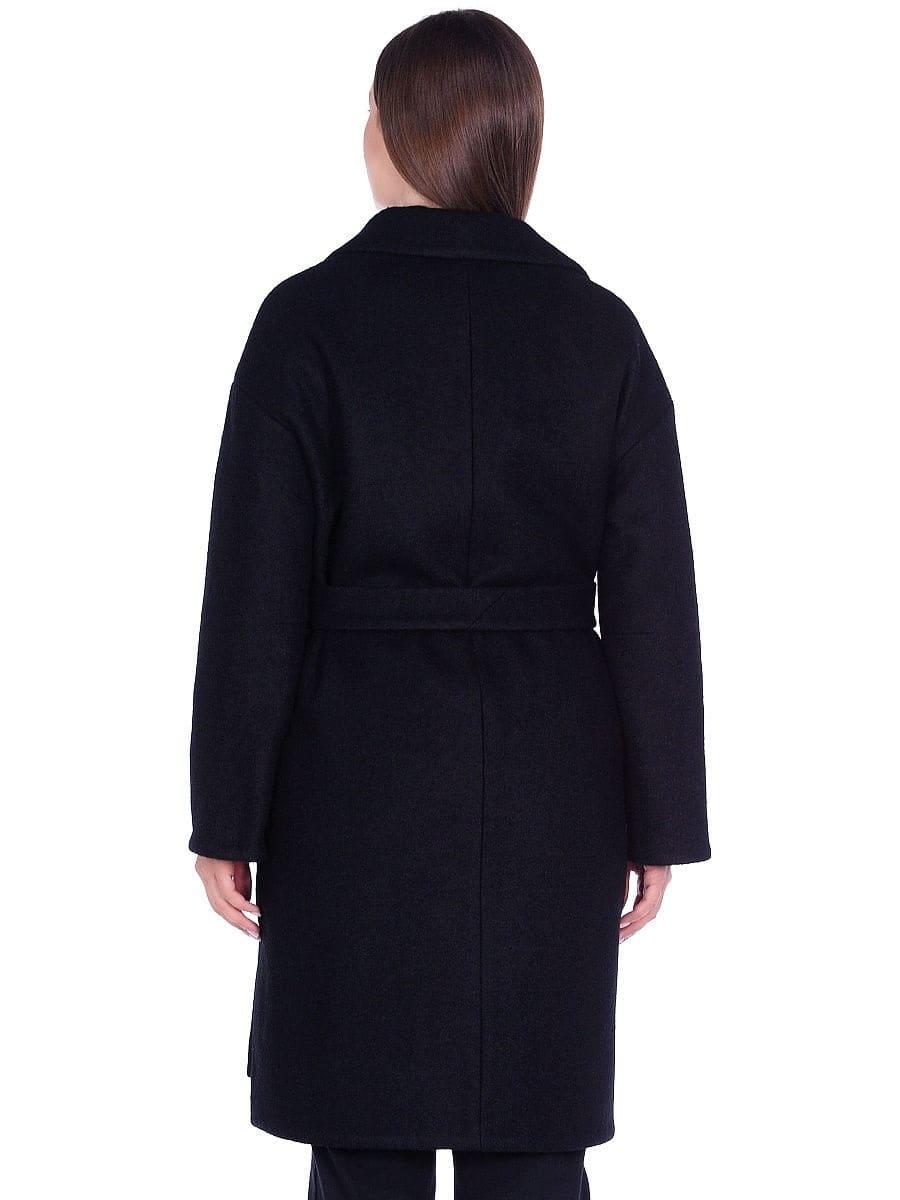 Женское демисезонное пальто hr-065 черного цвета
