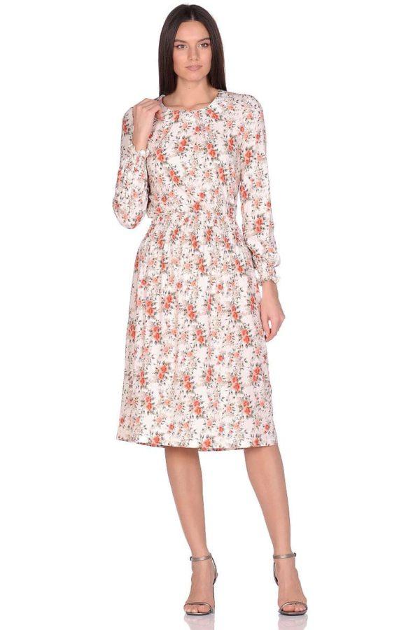 Женское платье LISA HR-155/1 бежевый